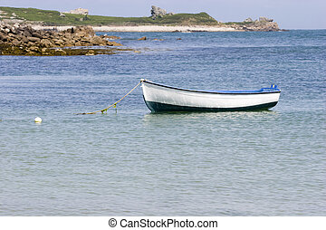 boat in the sea , in brittany