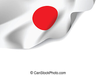 Japan flag on white background