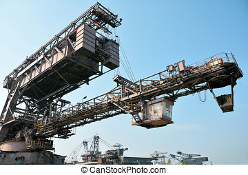 Ferropolis - gigantic excavator in the disused lignite...