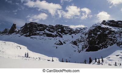 Winter mountains - Snowy MountainThe Mountain Top Blue Sky...