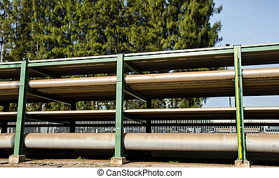 Pipe line - pipe line of refinery plant