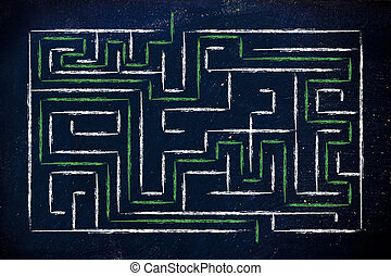 metaphor maze design: challenge won - mission accomplished...