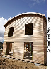 wood house - a part of a wood house
