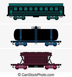 järnväg, bilar