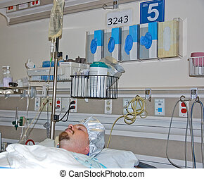 Male Patient Awaiting Surgery - This male patient is in the...