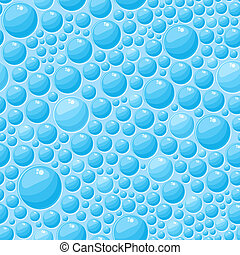 Blue Bubbles Seamless Pattern - Light Blue Round Bubbles in...