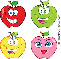 Apple Cartoon Collection Set