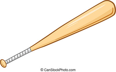 Wooden Baseball Bat. Illustration Isolated on white