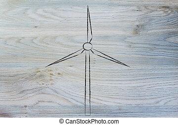 renewable energy: wind park turbines