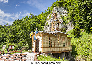 Old wooden chapel in Ojcow - Poland. - Old wooden chapel in...