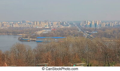 Panorama of Dnieper, Kiev - Panorama of Left Bank of Dnieper...