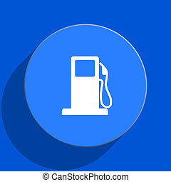 petrol blue web flat icon - blue web pushbutton