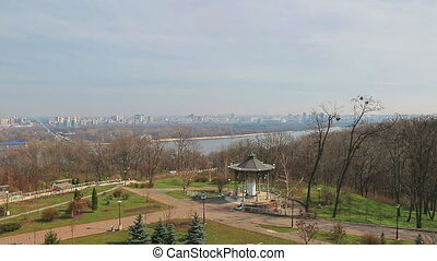 Left Bank panorama of Dnieper, Kiev - Panorama of Left Bank...