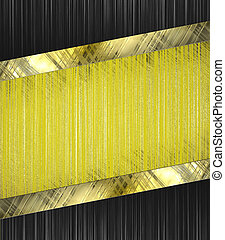 Abstract yellow background with abstract black edged with...