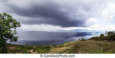 Rainfall - Rainfall over Lake Toba Island on North Sumatra,...