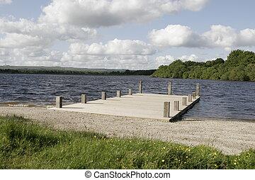 dock around a lake