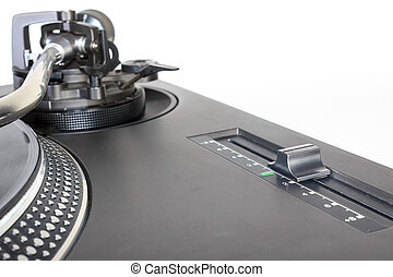 Pitch adjustment knob of a turntable