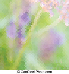 Green defocused background - Green and lavender pastel...