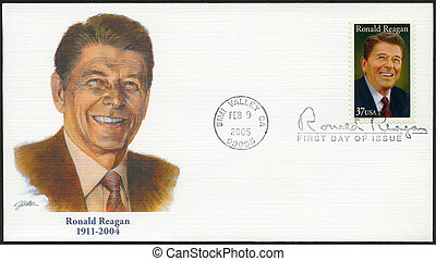 USA - 2005: shows Ronald Reagan 1911-2004, 40th President -...
