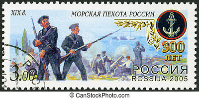 RUSSIA - CIRCA 2005: A stamp printed in Russia shows Sea...