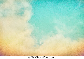 Vintage Grunge Clouds - Fog and clouds on a vintage paper...