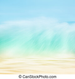 Wave Motion - A long exposure abstraction of an ocean wave...