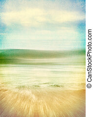 Wave Forms - An abstract ocean seascape with blurred panning...