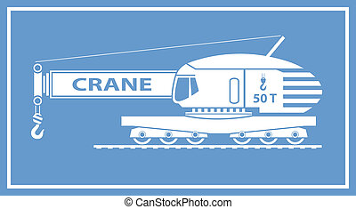 Rail Crane isolated on background