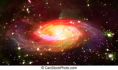 space red galaxy - beautiful galaxy effect in space...