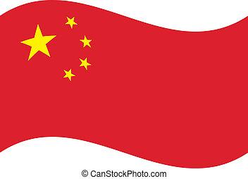 Vector flag. China