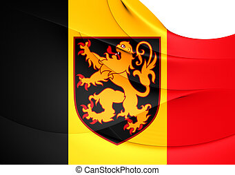 Flag of Belgium Close Up