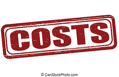 Costs - Stamp with word costs inside, vector illustration