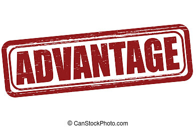 Advantage - Stamp with word advantage inside, vector...