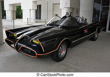 Batmobile - A 1960s era Batmobile from the TV series on...