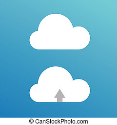 Cartoon  clouds. Illustration for design