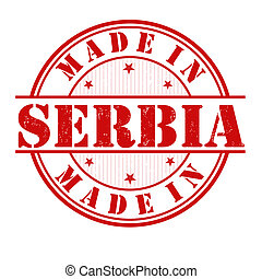 Made in Serbia stamp - Made in Serbia grunge rubber stamp on...