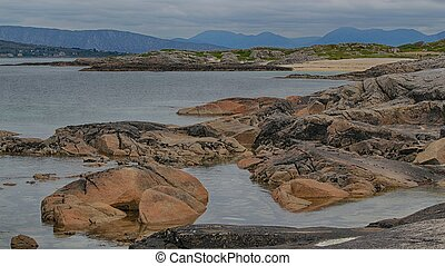 Connemara beach - The rugged Connemara coastline