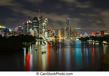Brisbane - Night skyline of Brisbane, Australia