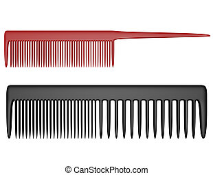 3d Render of Two Types of Combs