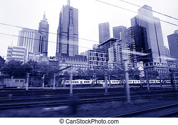 Metro Trains Melbourne - MELBOURNE, AUS - APR 11 2014:Metro...