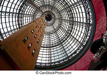 Melbourne Central Shopping Centre - Shot tower at Melbourne...