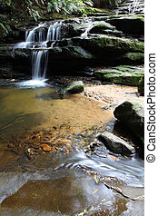 Leura Cascades is located in the Blue Mountains, a famous...