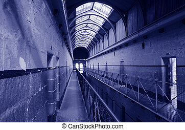 Old Melbourne Gaol - MELBOURNE - APR 11 2014:Old Melbourne...