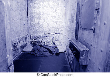 Old prison cell - Empty old prison cell interior.