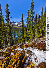 Waterfalls above Lake Ohara