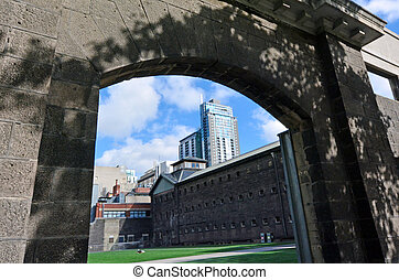 Old Melbourne Gaol - MELBOURNE - APR 11 2014:The gate of the...