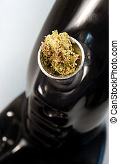 Water Pipe Green Buds Marijuana Plant Flowers Cannibis...