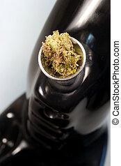 água, cano, verde, brotos, Marijuana, planta, flores,...