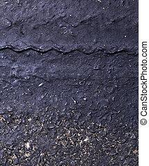 Tire tracks - close up of tire tracks