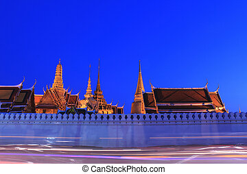 Grand palace at night, Thailand